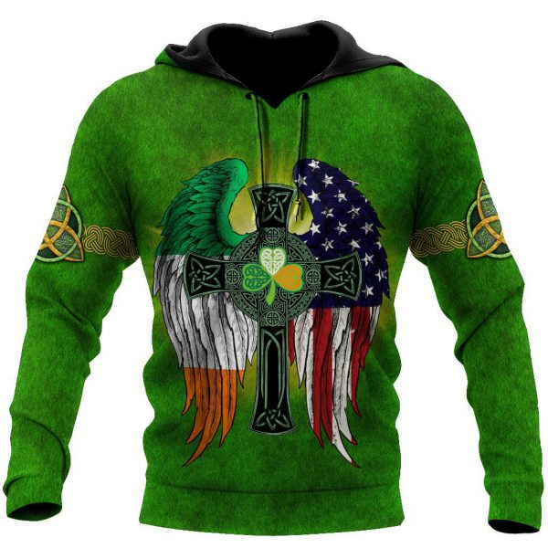 [Top-selling] st patricks day the celtic cross wings full printing shirt - maria