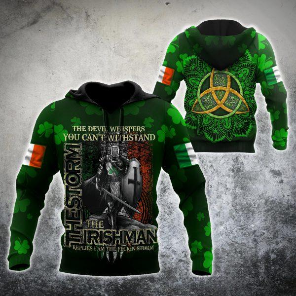 [Top-selling] st patricks day the knight shamrock full printing shirt - maria