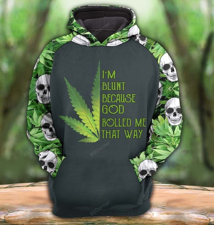 [Top-selling] the dark skull with cannabis all over printed shirt - maria