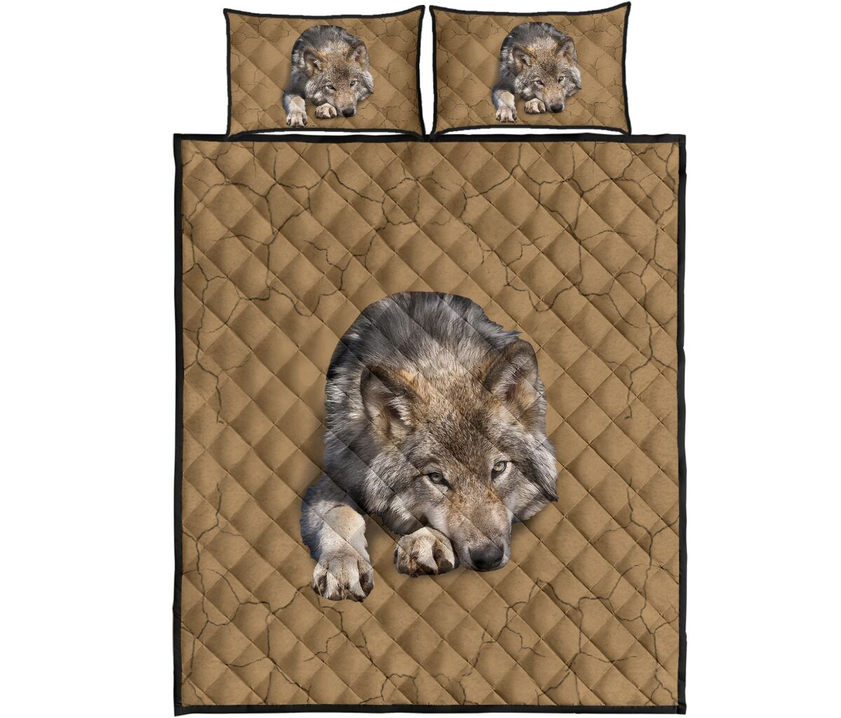 [Top-selling] the wolf in my bed full over print quilt - maria