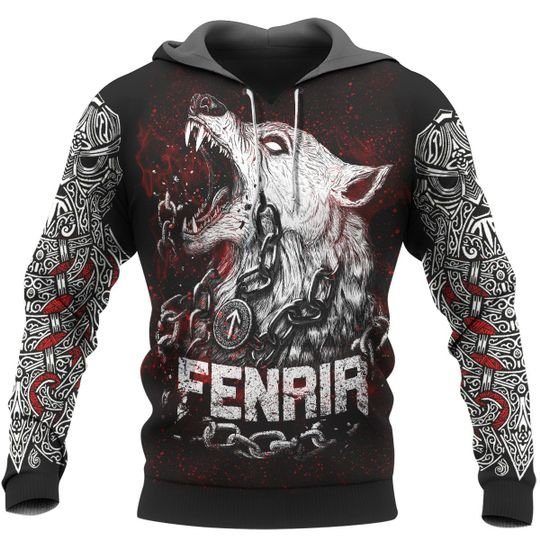 [Top-selling] viking fenrir and raven all over print shirt - maria
