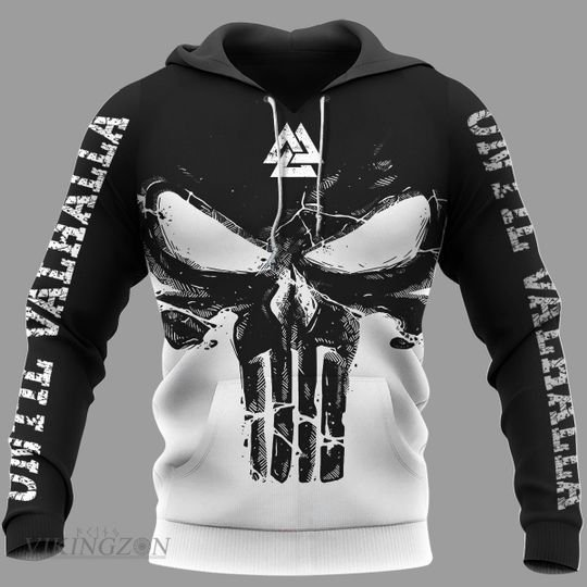 [Top-selling] viking until valhalla the skull all over printed shirt - maria