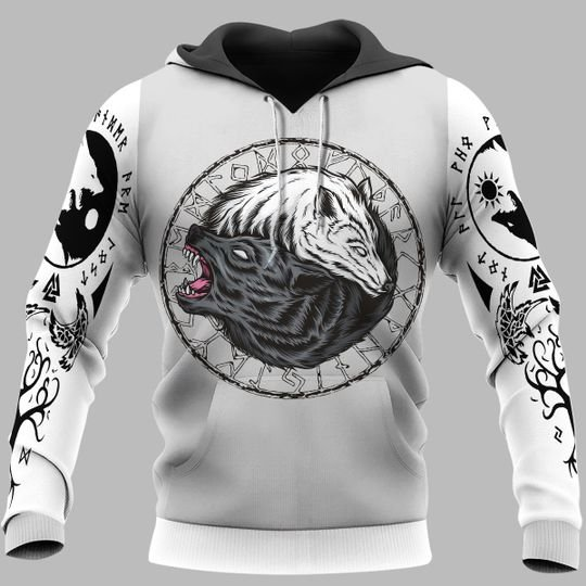 [Top-selling] viking wolf fenrir all over printed shirt - maria