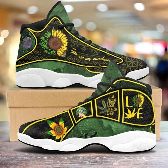 [Top-selling] weed leaf you are my sunshine sunflower air jordan 13 sneakers - maria