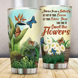 Advice from a Butterfly tumbler