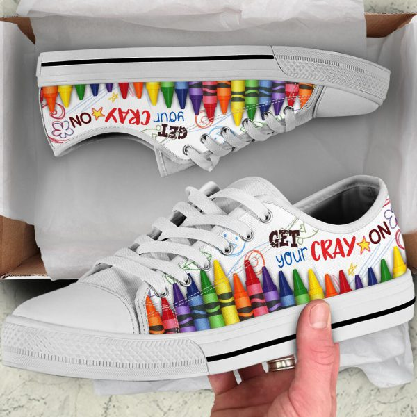 [Top-selling] Get your cray on low top sneakers - maria