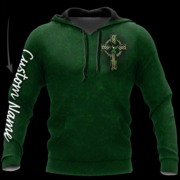 Irish St.Patrick day 3D Custom Name Hoodie And Shirts