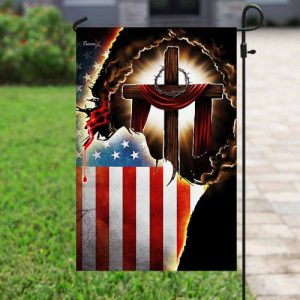 [special edition] Jesus Christian american flag all over print flag - maria