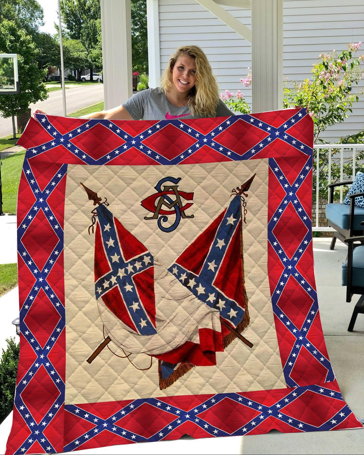 [Top-selling] Redneck confederate flag 3d quilt - maria