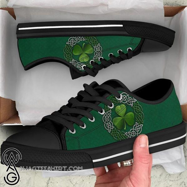 [Top-selling] St patricks day shamrock clover low sneakers - maria