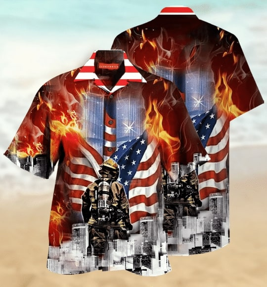 [Top-selling] always remember firefighter all over printed hawaiian shirt - maria
