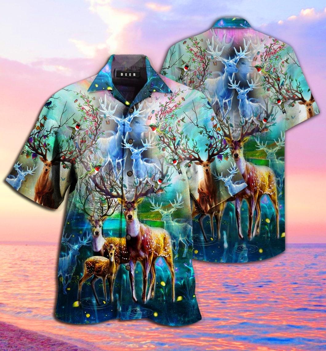 [Top-selling] amazing deer full printing hawaiian shirt - maria
