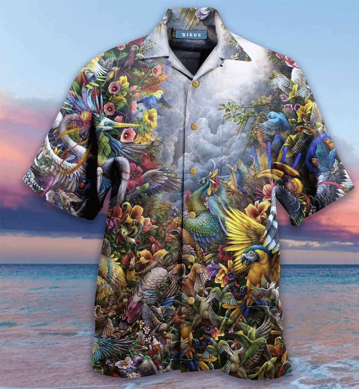[Top-selling] birds in the heaven all over printed hawaiian shirt - maria
