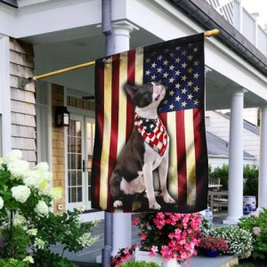 [special edition] boston terrier american flag all over print flag - maria