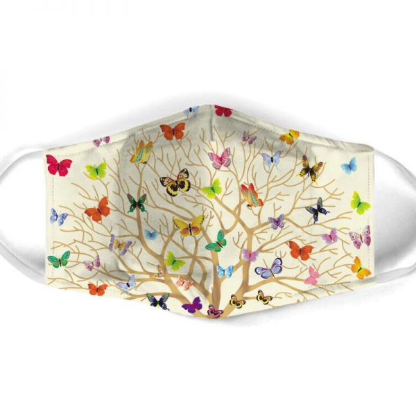 [special edition] butterfly with life of tree all over print face mask - maria