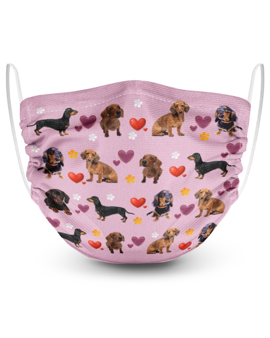 [special edition] dachshund lovely valentine face mask - maria