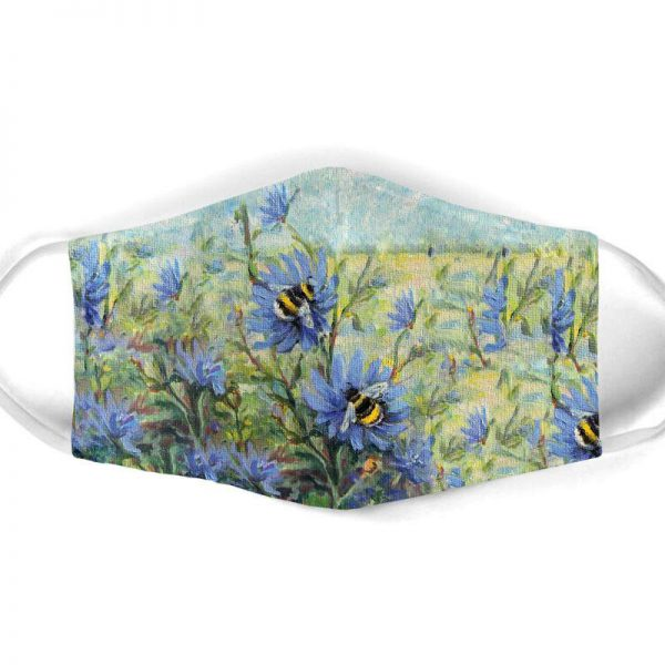 [special edition] flower garden and bee all over print face mask - maria
