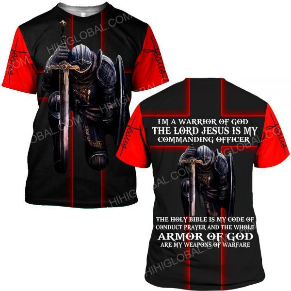 [Top-selling] I'm a warrior of God the lord Jesus is my commanding officer all over printed shirt - maria