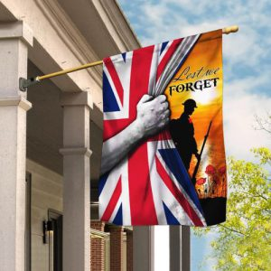 [special edition] veteran lest we forget remembrance day all over printed flag - maria