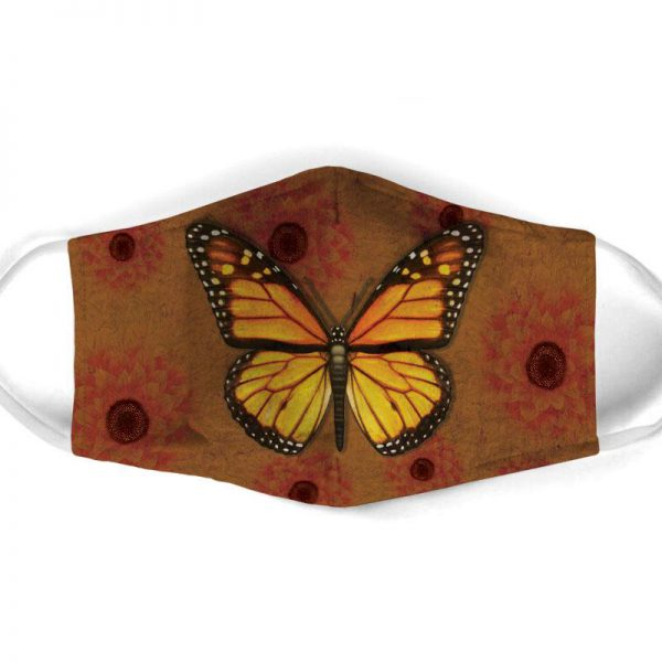 [special edition] vintage butterfly all over print face mask - maria