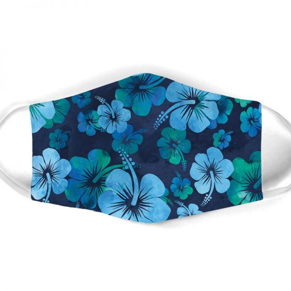 [special edition] vintage hibiscus flowers all over print face mask - maria