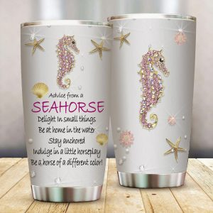 Advice from a seahorse treasures tumbler