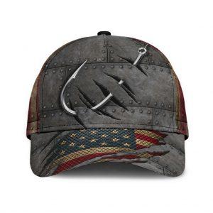 Fishing American Flag 3D Cap