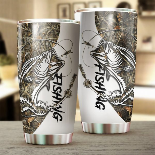 [Top-selling] Fishing tattoo camo stainless steel tumbler - maria