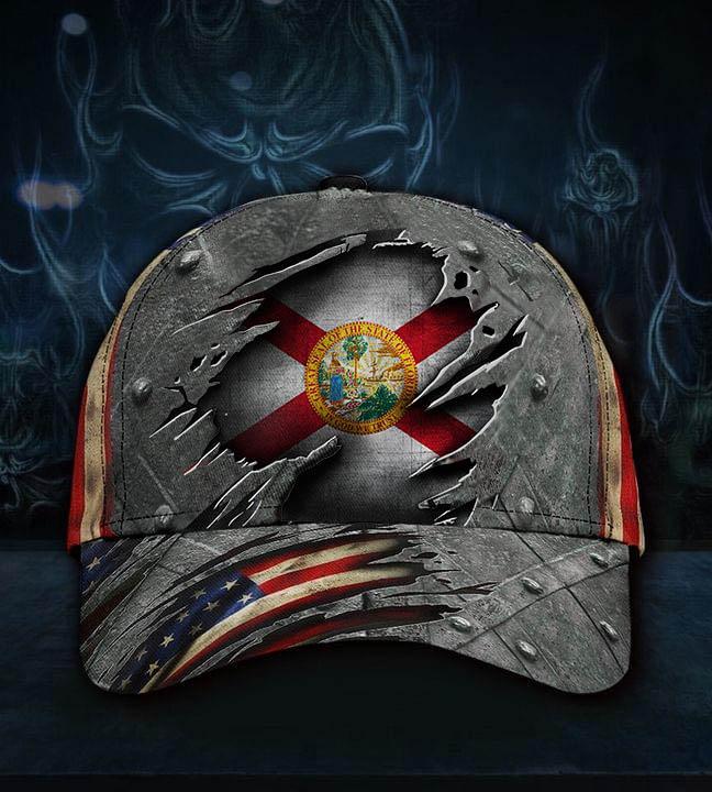 Florida state flag patriotic cap