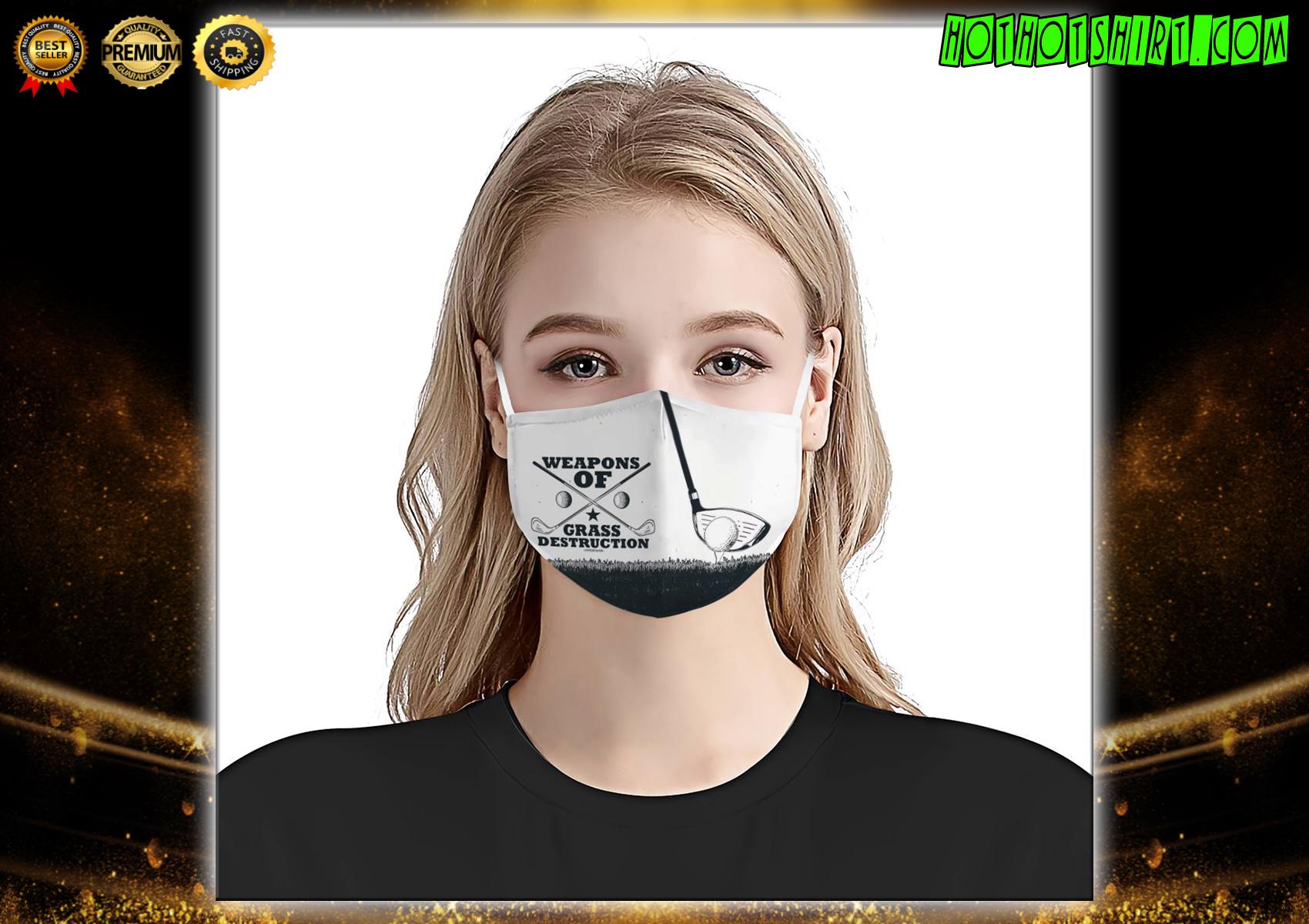 Golf weapons of grass destruction face mask - Hothot 270321