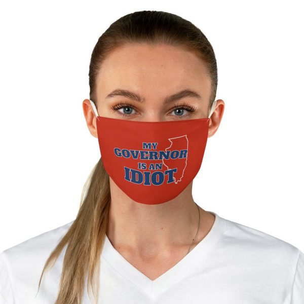 My governor is an idiot Illinois face mask