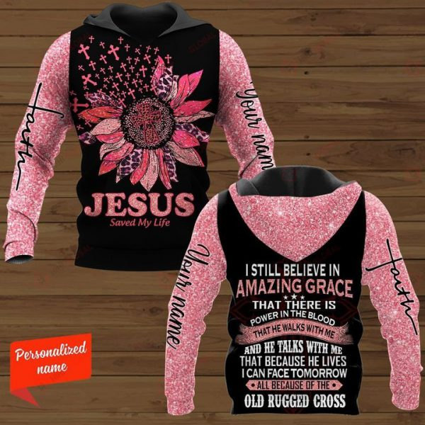 Personalized Jesus save my life 3D hoodie - Hothot 100321