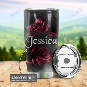 Personalized Skull Rose Stainless Steel Tumbler - Hothot 240321