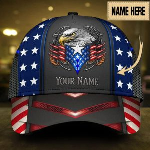 Personalized custom name eagle proud american cap