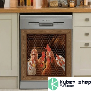 Rooster chicken decor kitchen dishwasher