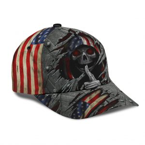 Skull american flag classic cap