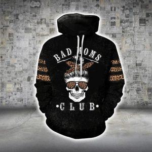 Skull bad moms dark 3D hoodie and legging  - Hothot 100321