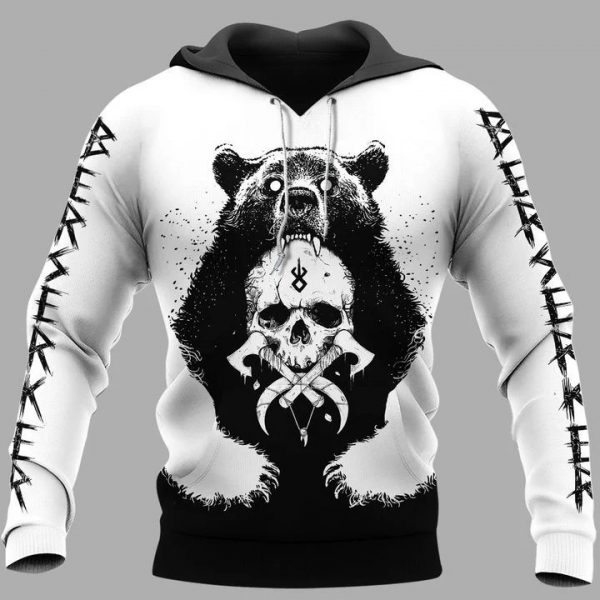Viking bear claws and yggdrasil 3d hoodie and shirts - Hothot 020321