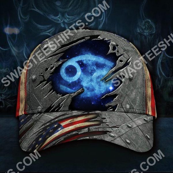 [Top-selling] cancer zodiac america flag all over printed classic cap - maria