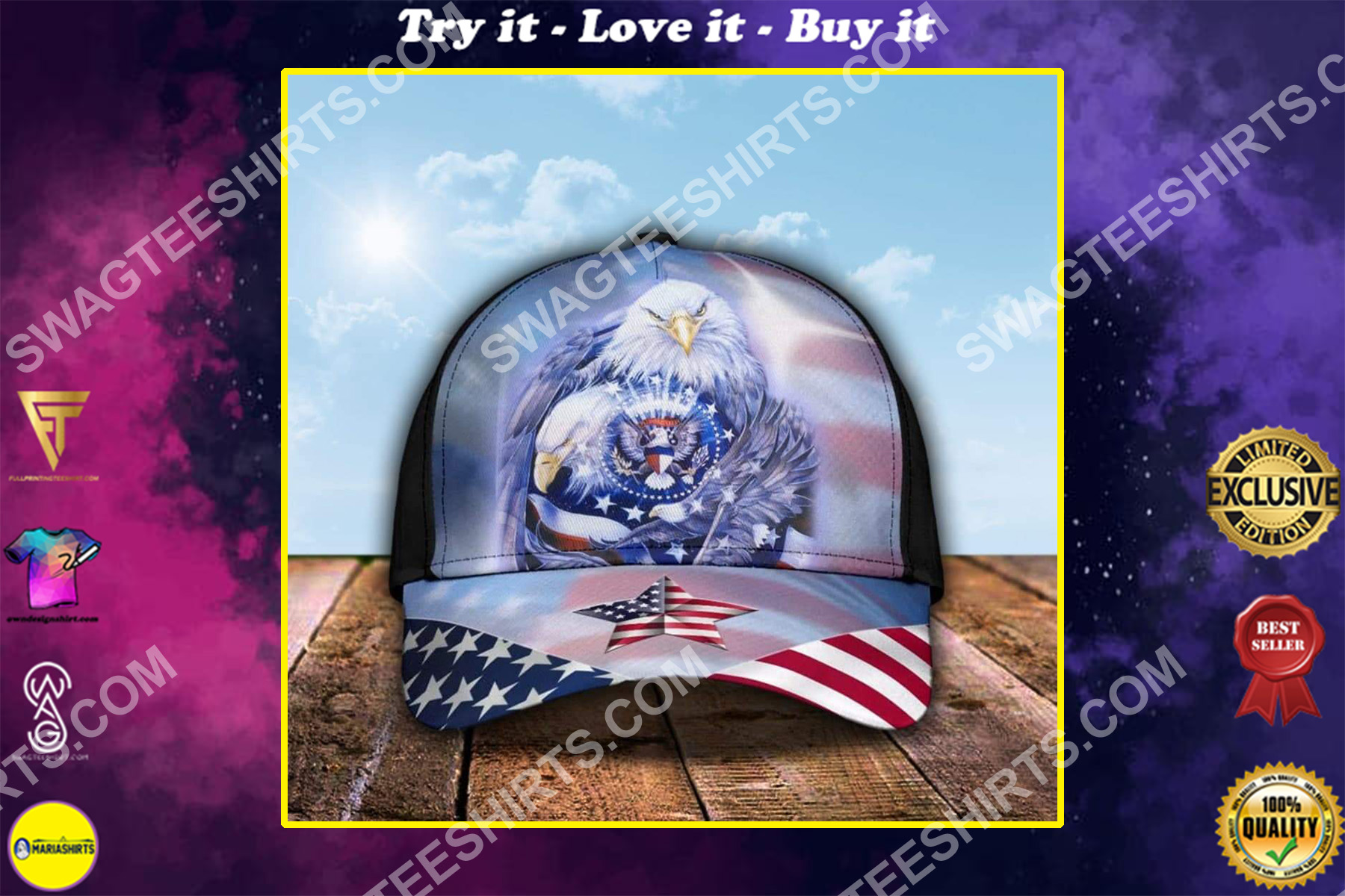 [Top-selling] fourth of july american flag independence day all over printed classic cap - maria
