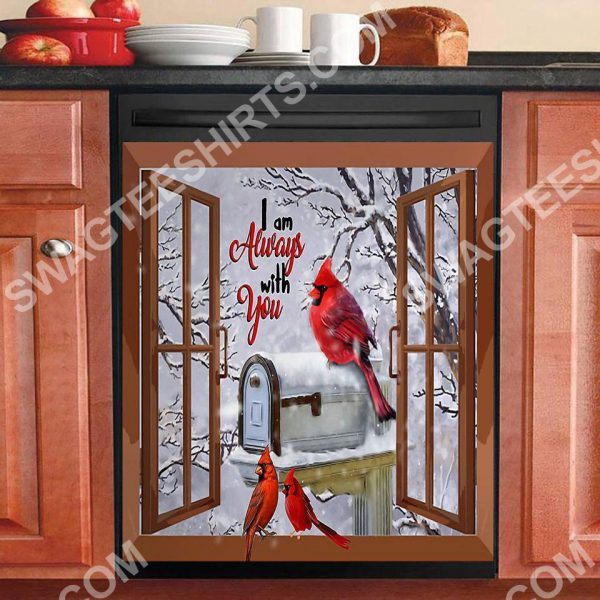 [Top-selling] the cardinal i am always with you kitchen decorative dishwasher magnet cover - maria