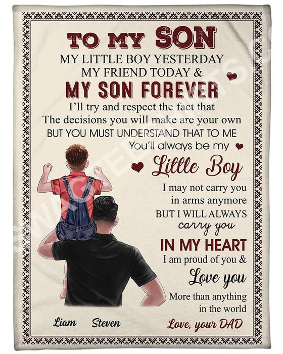 [Top-selling] to my son my little boy yesterday my friend today and my son forever blanket - maria