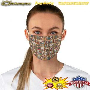 Bookish pattern fabric face mask - Hothot 100421