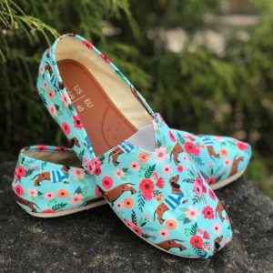 Dachshund Flower Toms shoes