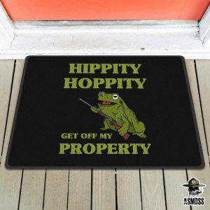 Frog hippity hoppity get off my property doormat