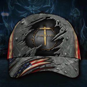 Jesus forgiven American flag classic cap