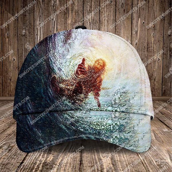 [Top-selling] Jesus reaching into water all over printed classic cap - maria