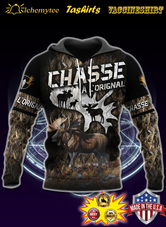 Moose hunting chasse a l'original 3d shirt la chemise