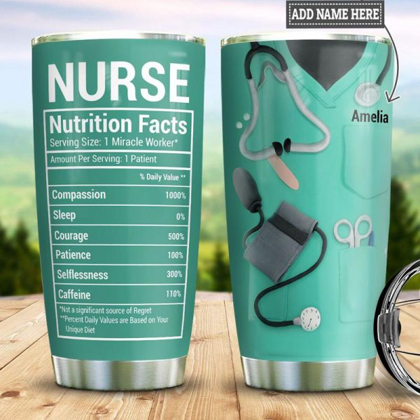 Nurse Fact Personalized Stainless Steel Tumbler