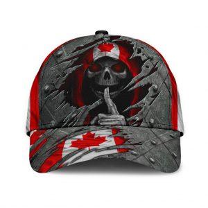 Skull canada flag classic cap